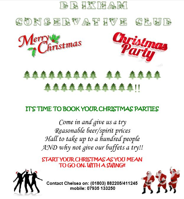 brixham conservative club christmas party