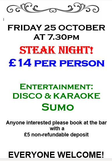 brixham conservative club steak night